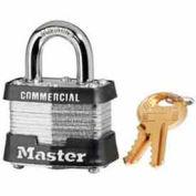 Master Lock® No. 3MK Laminated Steel Padlock Keyed Differently with Master Key - Pkg Qty 24