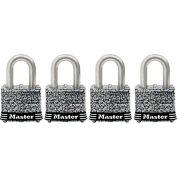 "Master Lock® General Security Laminated Padlock - No. 3SSQHC - 3/4"" Shackle - Pkg Qty 4"