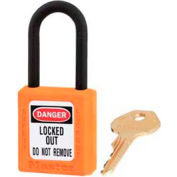 "Master Lock® Safety Padlock, Dielectric Zenex™, 1-1/2""W X 1-3/4""H, Orange"