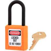 "Master Lock® Safety Padlock, Dielectric Zenex™, 1-1/2""W X 1-3/4""H, Orange"