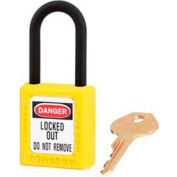 "Master Lock® Safety Padlock, Dielectric Zenex™, 1-1/2""W X 1-3/4""H, Yellow - Pkg Qty 36"