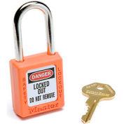 Master Lock® Safety 410 Series Zenex™ Thermoplastic Padlock, Orange, 410ORJ