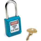 Master Lock® Safety 410 Series Zenex™ Thermoplastic Padlock, Teal, 410TEAL