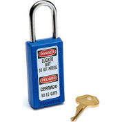 Master Lock® Safety 411 Series Zenex™ Thermoplastic Padlock, Blue, 411BLU
