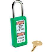 Master Lock® Safety 411 Series Zenex™ Thermoplastic Padlock, Green, 411GRN