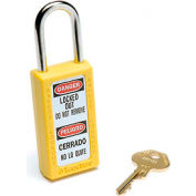 Master Lock® Safety 411 Series Zenex™ Thermoplastic Padlock, Yellow, 411YLW