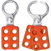 """Master Lock® Lockout Hasp, Aluminum, 1"""" Jaw Dia. X 1-1/2""""W X 4-3/8""""L - Pkg Qty 72"""
