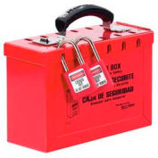 Master Lock® Latch Tight™ Group Lock Box, Portable, Red, 498A