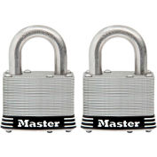 "Master Lock® General Security Laminated Padlock - No. 5SSTHC - 1"" Shackle - Pkg Qty 2"