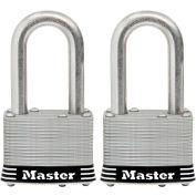 """Master Lock® General Security Laminated Padlock - No. 5SSTLFHC - 1-1/2"""" Shackle - Pkg Qty 2"""