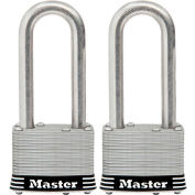 "Master Lock® General Security Laminated Padlock - No. 5SSTLJHC - 2-1/2"" Shackle - Pkg Qty 2"