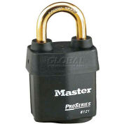 Master Lock® No. 6121KAB High Security Steel Weather Resistant Covered Laminated Padlocks - Pkg Qty 24