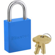Master Lock® Safety 6835 Series Aluminum Padlock, Hi-Vis Blue, 6835BLU