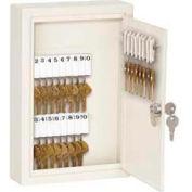 "Master Lock® No. 7122D Heavy Duty Key Cabinet - Holds 30-Keys, 12""W x 2-1/2""D x 8""H - 2 Keys"