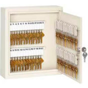 "Master Lock® Heavy Duty Key Cabinet, Holds 60-Keys, 12-1/4""W x 3""D x 10-1/4""H, with 2 Keys"