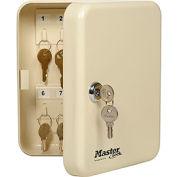"""Master Lock® Key Storage Cabinet, Holds 20-Keys, 7-3/4""""W x 3""""D x 6-1/4""""H, with 2 Keys"""