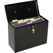 "Master Lock® Steel Security File Box, 13-1/2""L x 6""W x 10-1/2""H, Black"