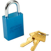 American Lock® Solid Aluminum Rectangular Padlock, Blue - No A1105blu - Pkg Qty 3