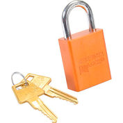 American Lock® Solid Aluminum Rectangular Padlock, Orange - No A1105orj - Pkg Qty 3
