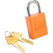 American Lock® No. A1105ORJ Solid Aluminum Rectangular Padlock, Orange - Pkg Qty 3
