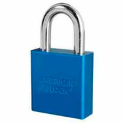 American Lock® High Security Solid Aluminum Padlock 5 Pin Cylinders, Blue - Pkg Qty 24