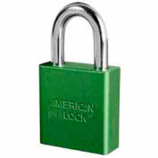 American Lock® High Security Solid Aluminum Padlock 5 Pin Cylinders, Green - Pkg Qty 24