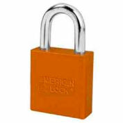 American Lock® High Security Solid Aluminum Padlock 5 Pin Cylinders, Orange - Pkg Qty 8