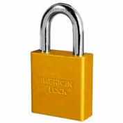 American Lock® High Security Solid Aluminum Padlock 5 Pin Cylinders, Yellow - Pkg Qty 24