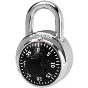 American Lock® No. A400BLK Padlock Stainless Steel Combination Padlock, No Key Access, Black - Pkg Qty 25