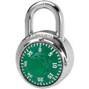 American Lock® Padlock Stainless Steel Combination Padlock, Green - No A400kgrn - Pkg Qty 25