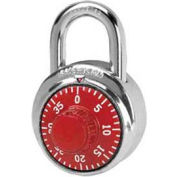 American Lock® No. A400RED Padlock Stainless Steel Combination Padlock, No Key Access, Red - Pkg Qty 25