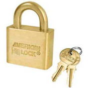 American Lock® Solid Brass Blade Cylinder Padlock With Brass Shackle - No Al50b - Pkg Qty 24