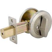 Master Lock® Commercial One-Sided Cylinder Deadbolt, Brushed Chrome
