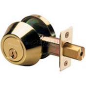 Master Lock® Single Cylinder Deadbolt, Polished Brass