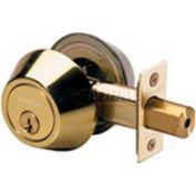 Master Lock® Double Cylinder Deadbolt, Polished Brass