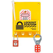 Master Lock® Compact Lockout Center, 1- Zenex™ Padlock, 1 - 421 Hasp, 2 Tags - Pkg Qty 3