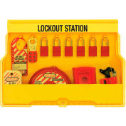 Master Lock® Lockout Station With Valve Lockout Devices, S1850V1106