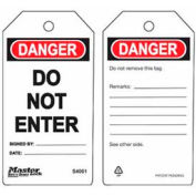 Master Lock® Safety Tag, Do Not Enter - Pkg Qty 2