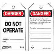 Master Lock® Safety Tag, Do Not Operate - Pkg Qty 2