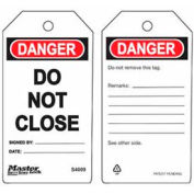 Master Lock® Safety Tag, Do Not Close - Pkg Qty 2