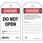 Master Lock® Safety Tag, Do Not Open - Pkg Qty 2