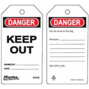 Master Lock® Safety Tag, Keep Out - Pkg Qty 12