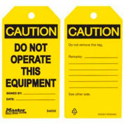 Master Lock® Safety Tag, Do Not Operate, Yellow - Pkg Qty 2