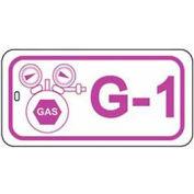 Master Lock® Gas Lockout Isolation Id Tag, G-1 - Pkg Qty 50
