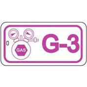 Master Lock® Gas Lockout Isolation Id Tag, G-3 - Pkg Qty 50