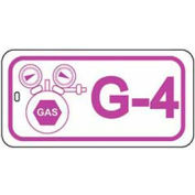 Master Lock® Gas Lockout Isolation Id Tag, G-4 - Pkg Qty 50