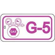 Master Lock® Gas Lockout Isolation Id Tag, G-5 - Pkg Qty 50
