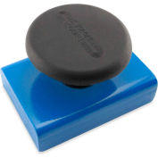Master Magnetics Ceramic Rectangular Base Magnets HMKS-D with Knob 40 Lbs. Pull Blue Powder Coat