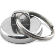Master Magnetics Neodymium Super Magnet Assembly NA011200N with Key Ring 35 Lbs. Pull Chrome Plating