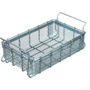"Marlin Steel Material Handling Basket 16""L x 10""W x 3-15/16""H - 0.5"" Wire - Plain Steel"